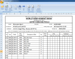 Excel Race Entry Sheets